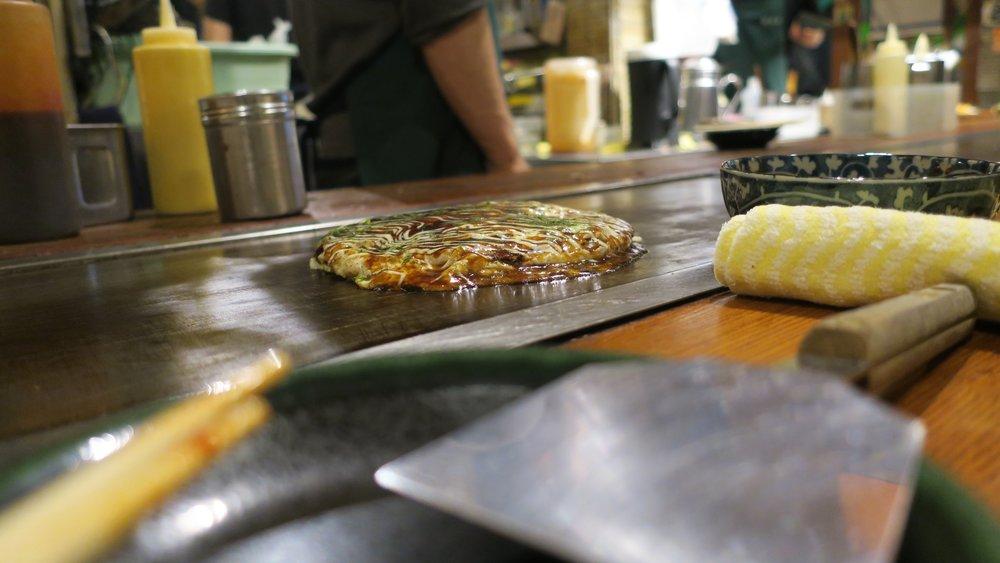 Uno de los mejores okonomiyakis de Osaka <3