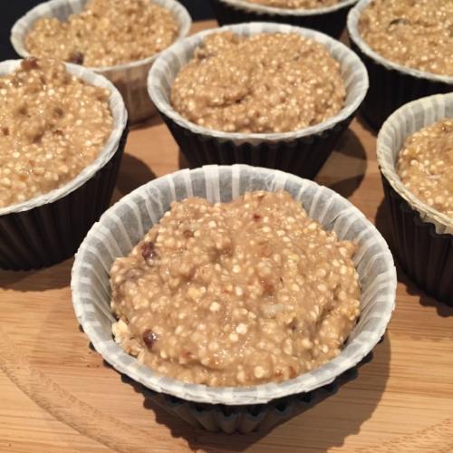 Los muffins listos para entrar al horno
