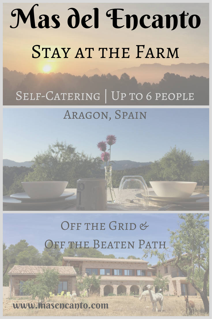 Rent half a farm, and come and go as you please at Mas del Encanto, our tiny farm and rural retreat in Aragon, Spain.