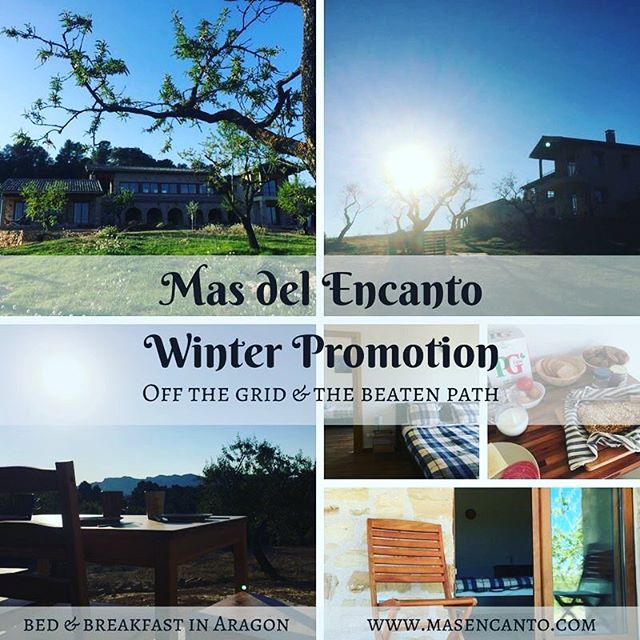 We have a few availabilities left before we close for winter: - From October 21st to October 29th - From November 4th to November 17th  Ready for one last escape to the mountains before the cold sets in? Book before October 2nd at midday, and enjoy our special prices - from € 39,- per night per room.  You can also book the whole floor - 3 bedrooms, 2 bathrooms, and a living room with kitchenette.  Rates and more info on our website:  http://www.masencanto.com/bed-breakfast #bedandbreakfast #casarural #fallpromo #fallgetaway #ruralretreat #booknow #aragon #spain #matarranya #matarraña