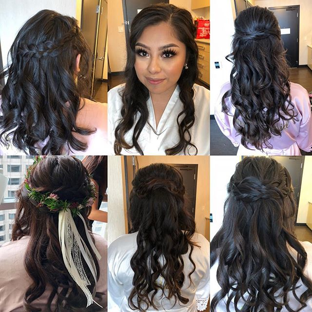 So pretty ✨⭐️✨ Tighter curl to start so they last until the evening 💍 #bridesbyanastasia 👰🏻 @olaura__