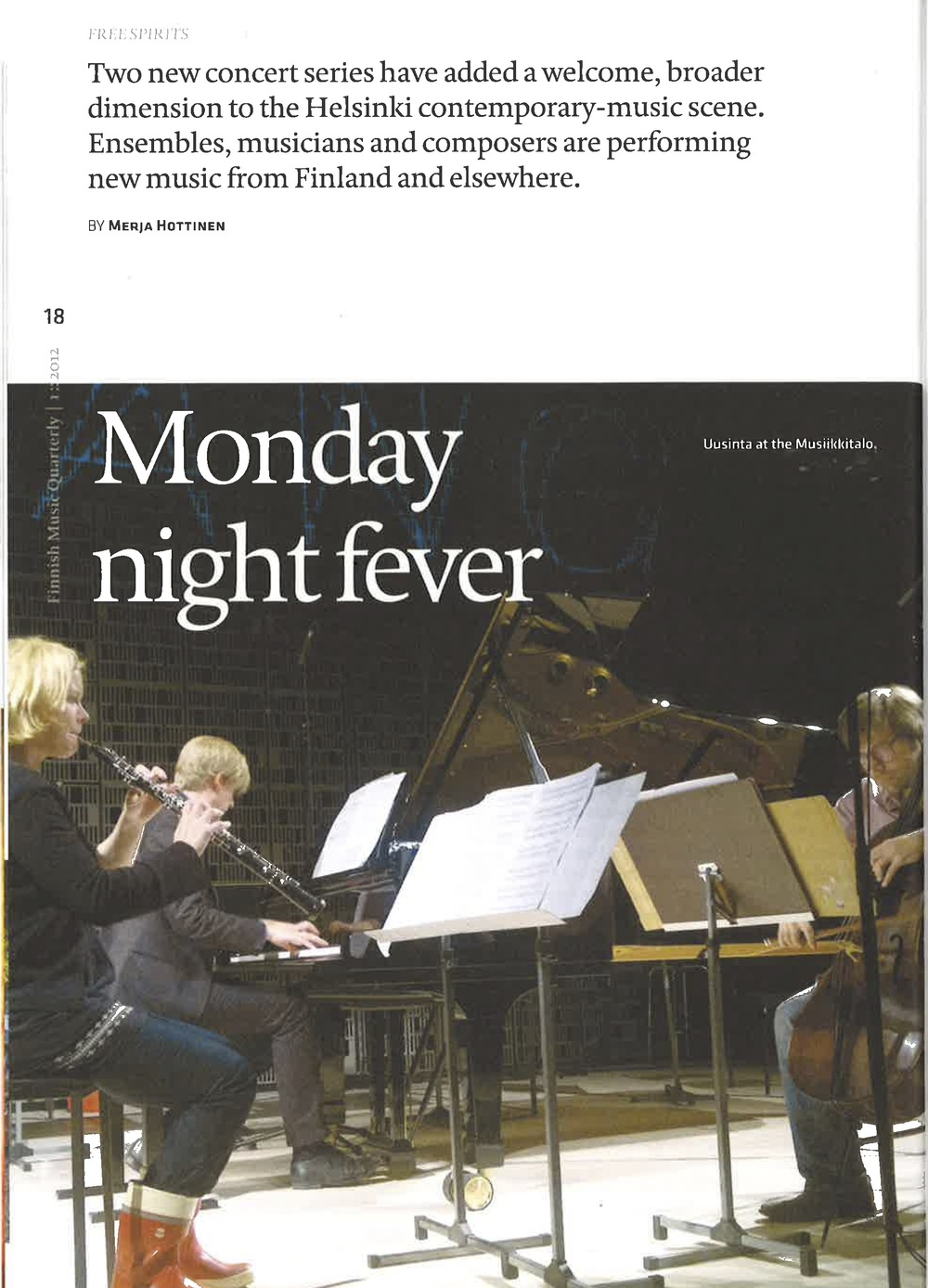 Finnish Music Quarterly, 1/2012