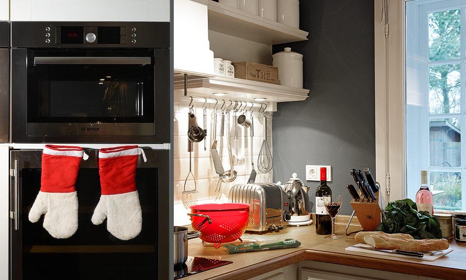Die hochwertige Küche ist mit allem Komfort ausgestattet