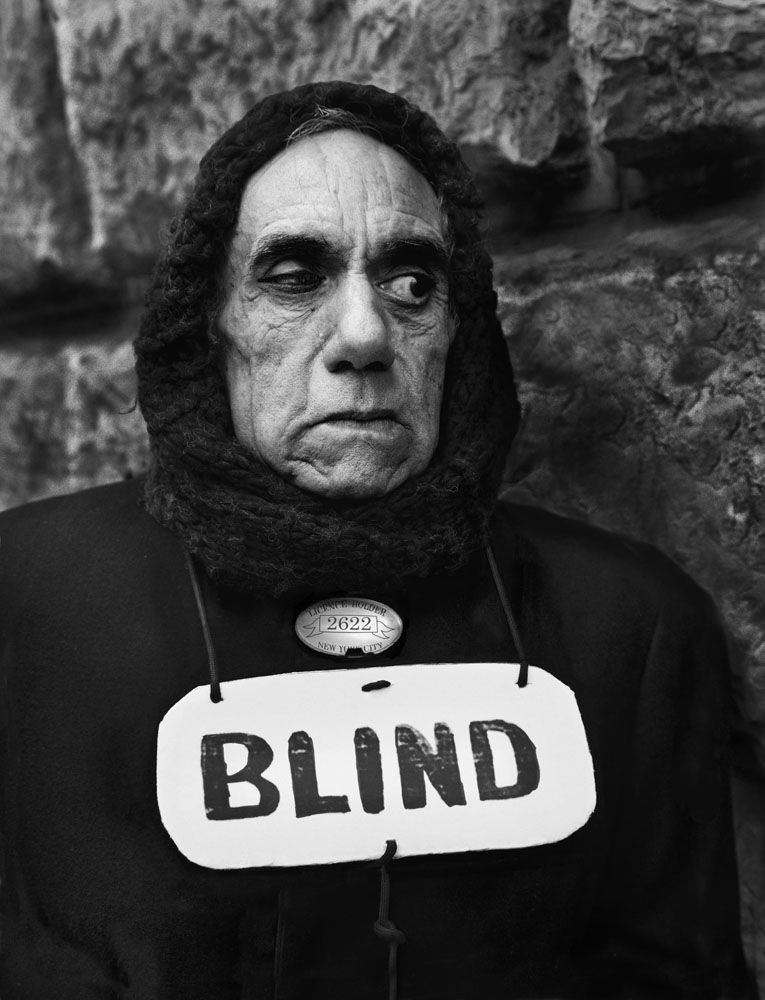 Copy of « Looking for the Masters in Ricardo's Golden Shoes #10 (Tribute to Paul STRAND, Blind woman, New York, 1916) » by Catherine Balet