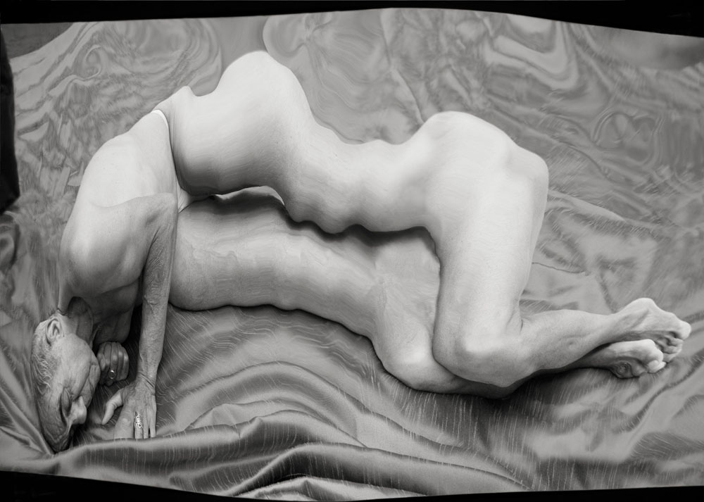 Copy of « Looking for the Masters in Ricardo's Golden Shoes #26 (Tribute to André KERTESZ, Distortion, 1933) » by Catherine Balet