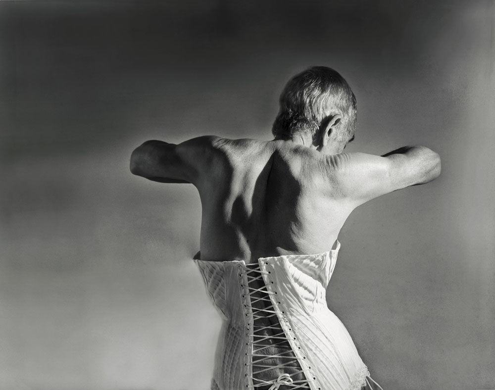 Copy of « Looking for the Masters in Ricardo's Golden Shoes #29 (Tribute to Horst P. HORST, Mainbocher Corset, 1939) » by Catherine Balet
