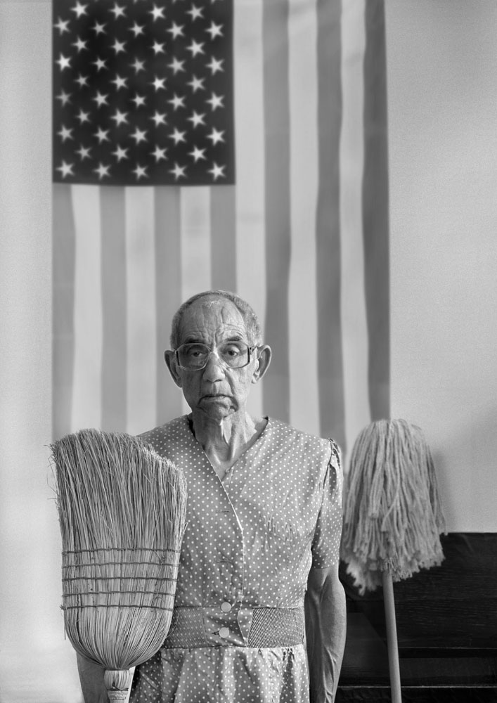 Copy of « Looking for the Masters in Ricardo's Golden Shoes #32 (Tribute to Gordon PARKS, American Gothic, 1942) » by Catherine Balet