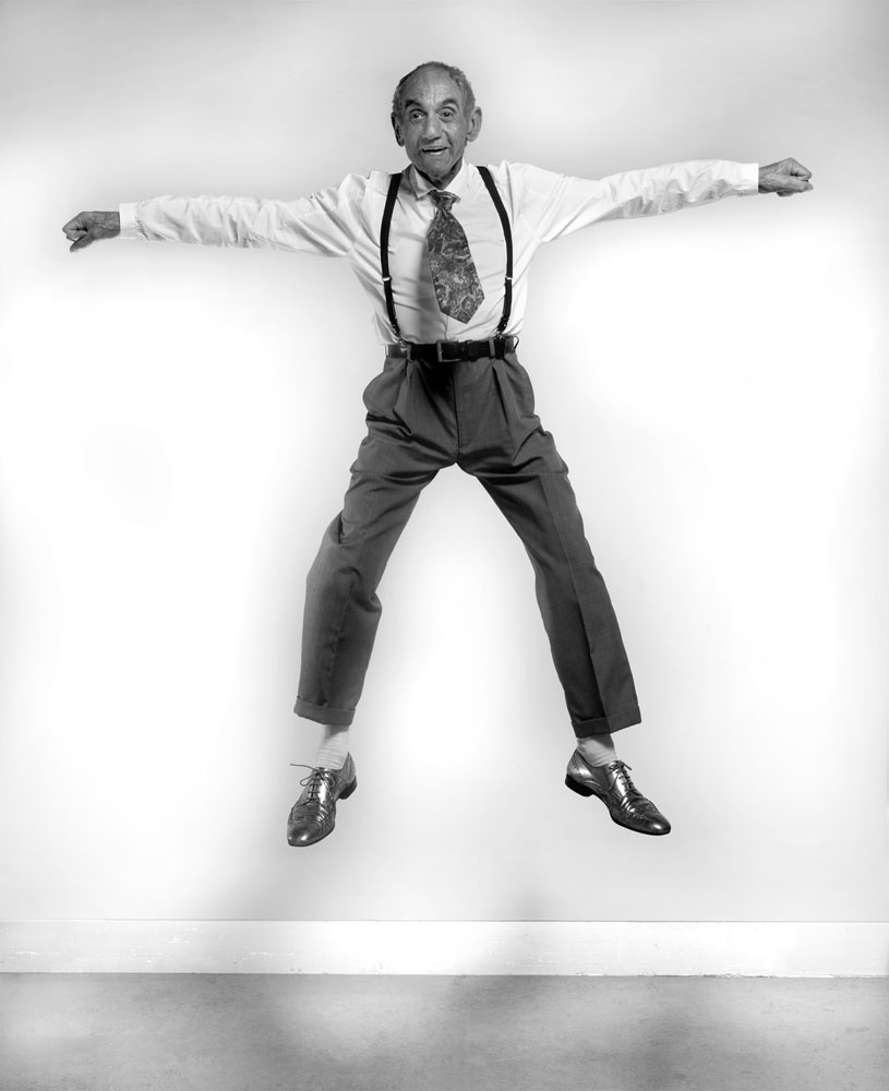 Copy of « Looking for the Masters in Ricardo's Golden Shoes #48 (Tribute to Philippe HALSMAN, Aldous Huxley, 1958) » by Catherine Balet