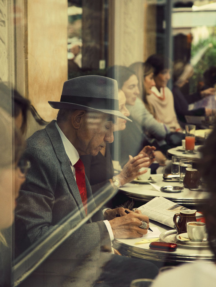 Copy of « Looking for the Masters in Ricardo's Golden Shoes #49 (Tribute to Saul LEITER, Paris, 1959) » by Catherine Balet