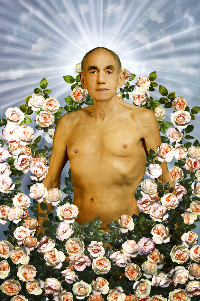Copy of « Looking for the Masters in Ricardo's Golden Shoes #89 (Tribute to PIERRE & GILLES, La tentation d'Adam, 1996) » by Catherine Balet