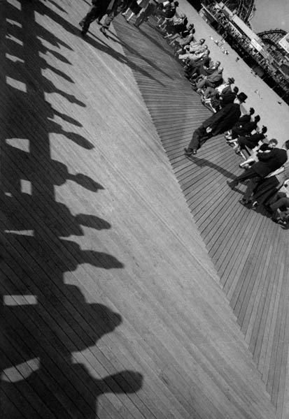 "Copy of ""Angled Pier with Shadows"" by Harold Feinstein"