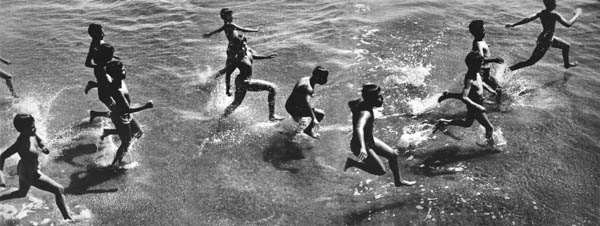 "Copy of ""Boys Running Into Surf"" by Harold Feinstein"