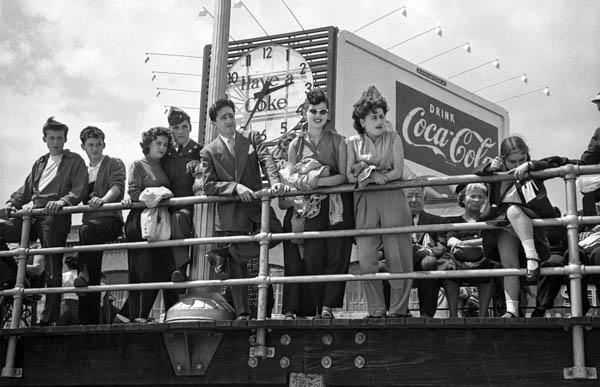 """Copy of """"Coke Sign on the Boardwalk"""" by Harold Feinstein"""