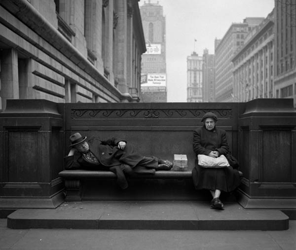 "Copy of ""Sharing a Public Bench"" by Harold Feinstein"