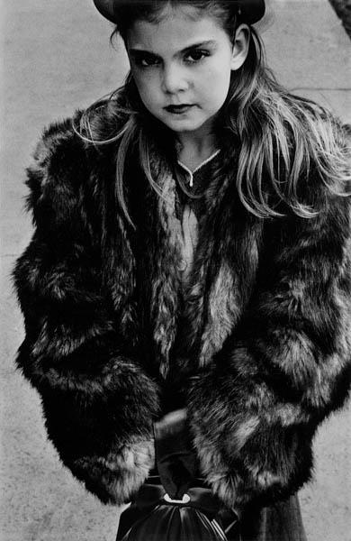 """Copy of """"Young Girl in Fur Coat"""" by Harold Feinstein"""