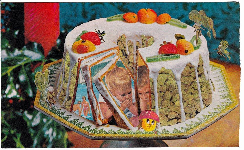 open bundt cake