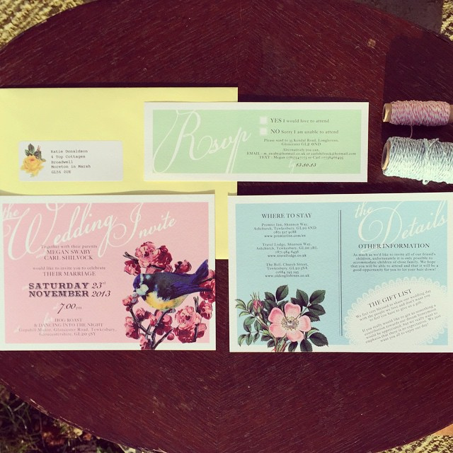 Pretty Pastel Floral Invitation