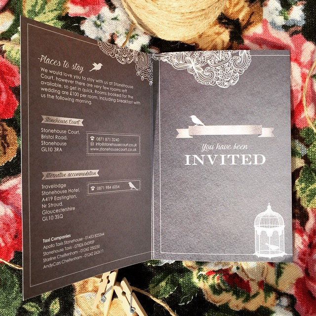 Elegantly Silver Invitation
