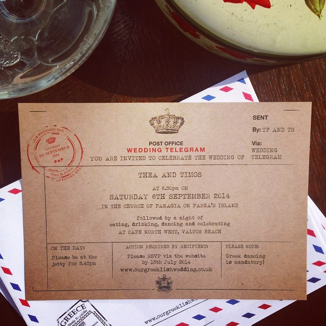 Vintage Telegram Invite