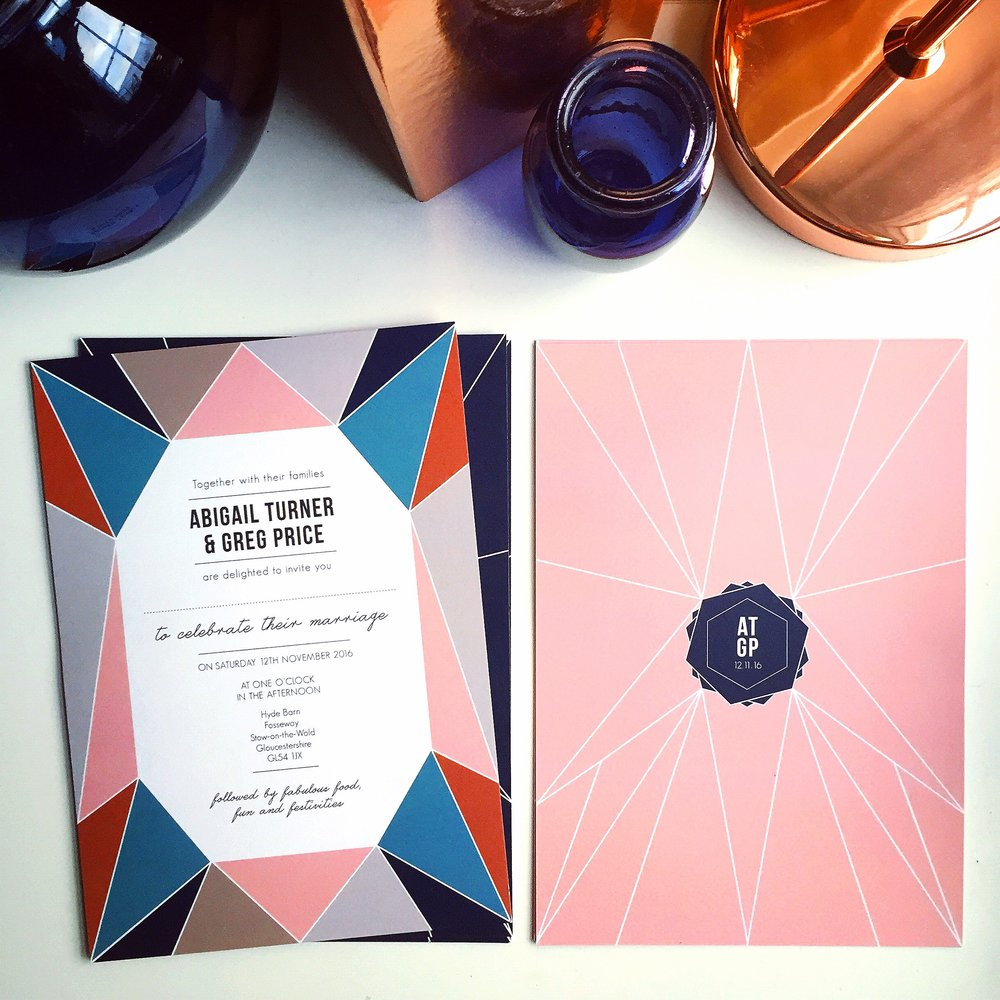The Geometric Copper Invitation