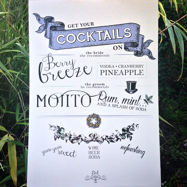 Vintage Cocktail Sign