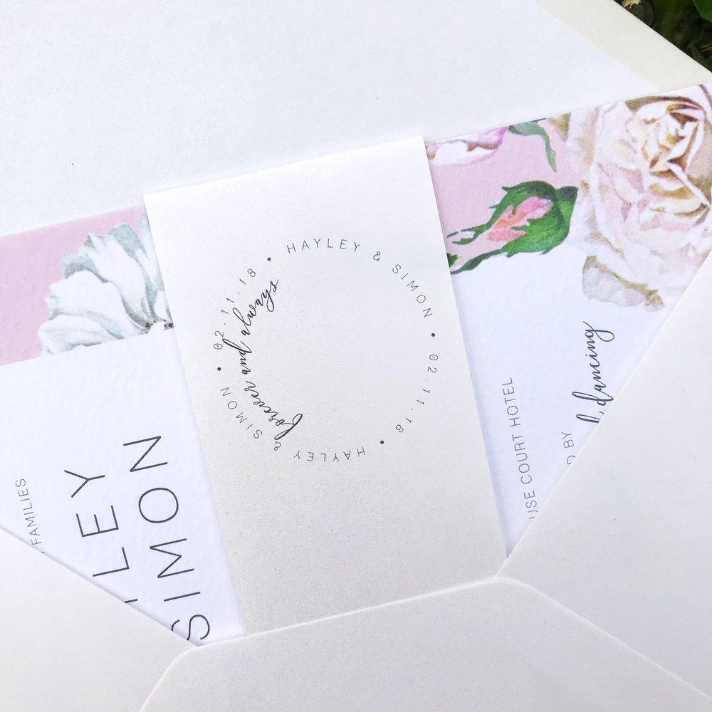 Pastel-pink-wedding-invite-white-roses-cheltenham-theinkcloset-bellyband.jpg