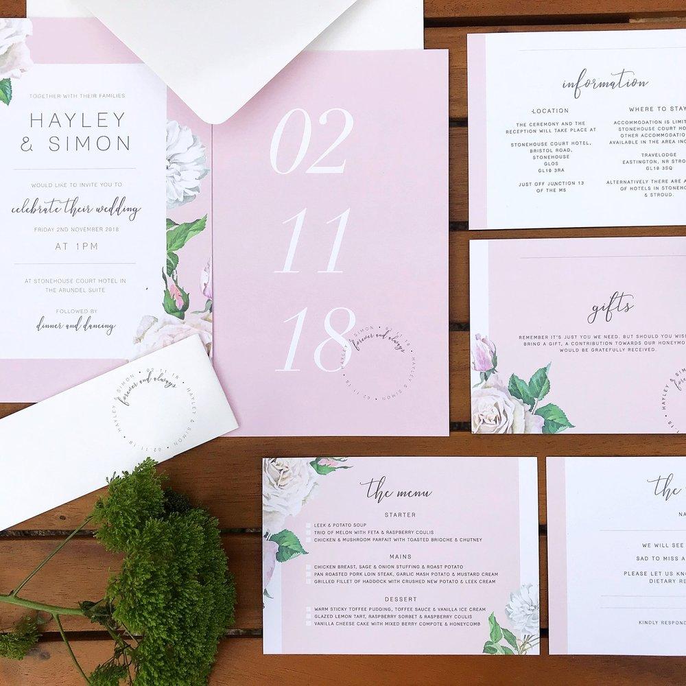 Pastel Pink Invite