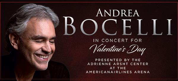 Andrea Bocelli Valentine's Day Concert