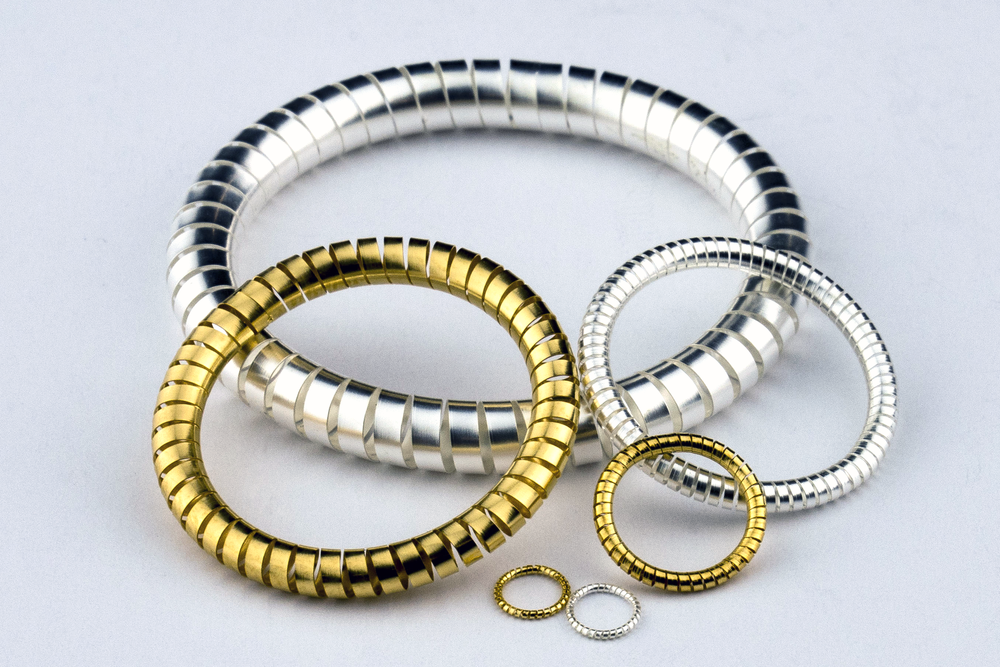 GOLD AND SILVER PLATED HELICAL SPRINGS