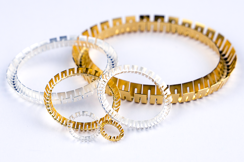 GOLD AND SILVER PLATED V-SPRING