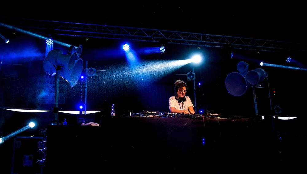 Annie Mac using Spartan Audio Visual's Pioneer Nexus DJ Equipment at Splott Warehouse