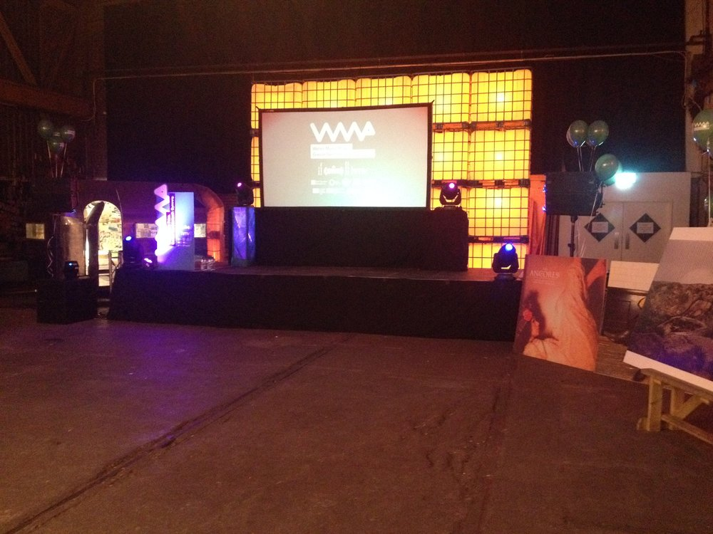 Depot getting an awards show makeover courtesy of our AV equipment