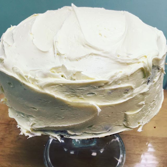 A snowy, vanilla- frosted Red Velvet for a particularly chilly morning #oswestry #cakestagram #redvelvet #redvelvetcake #cafe #nomnomnom #decadent #cake