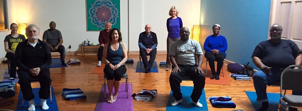 Our YES to Vets group at Peace Through Yoga Speedway, Spring 2016