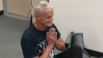U.S. Navy veteran Larry Dodd says practicing yoga has already had positive effects on his health.