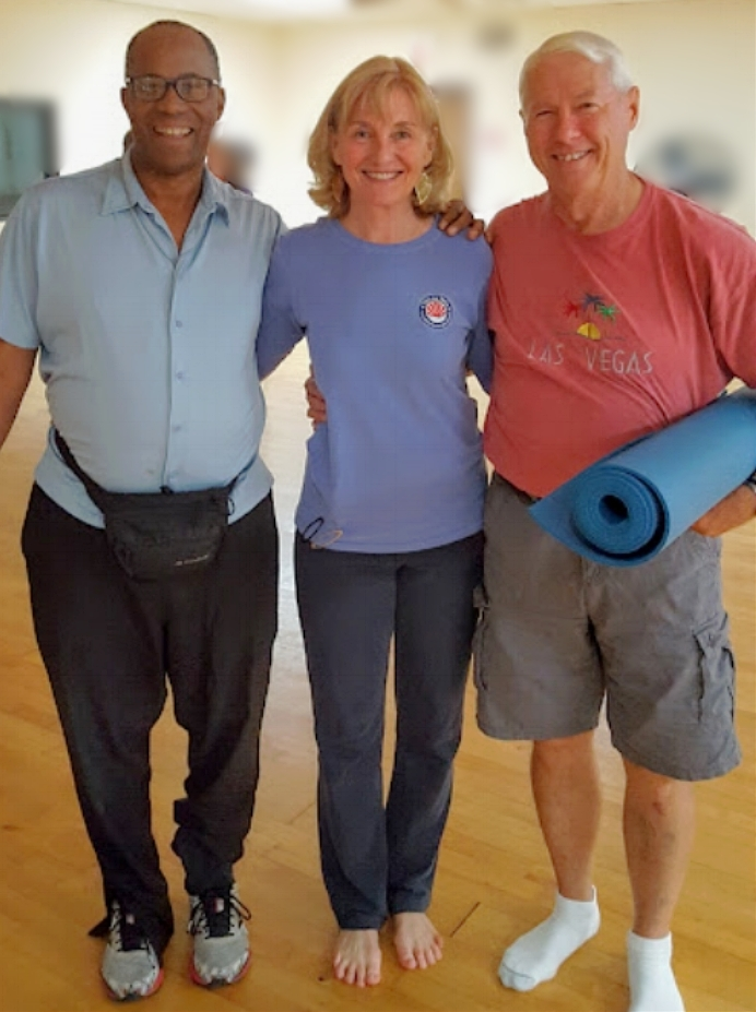 Tom, Nancy and Bill after our Northside class