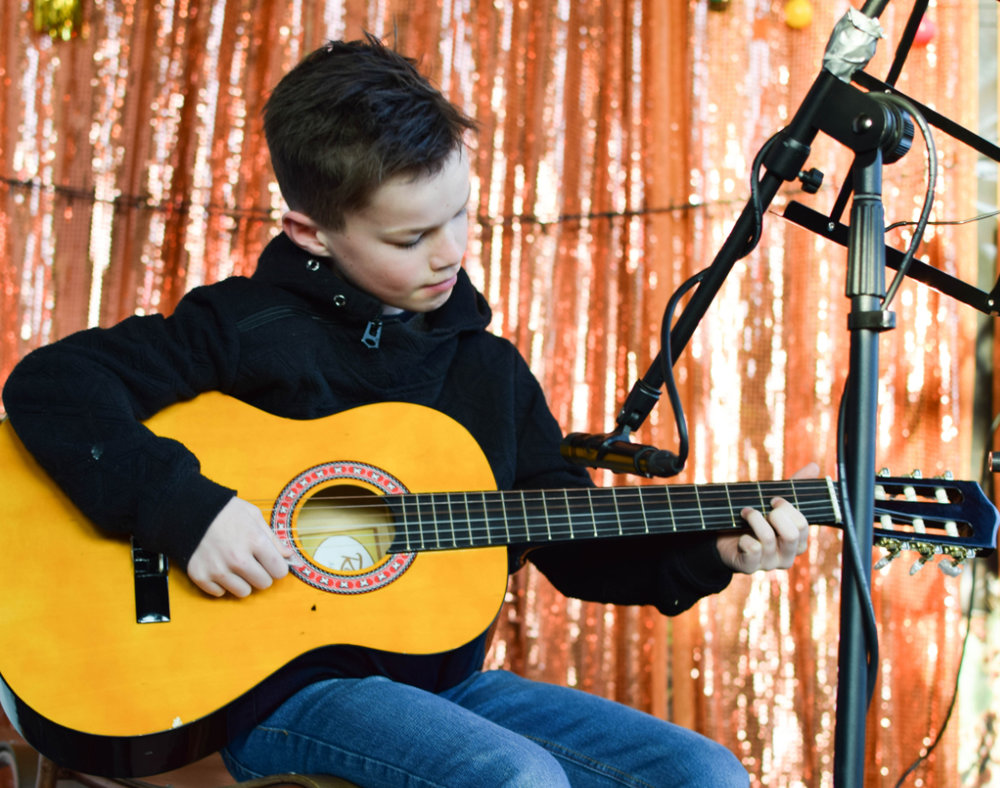 """The guitar teachers are great at the school and more importantly they are all really passionate about the guitar.  The teachers have a great academic approach  and they are very engaging which makes learning with them very easy and fun.  I can recommend them without hesitation.""  Tobias with Emile"