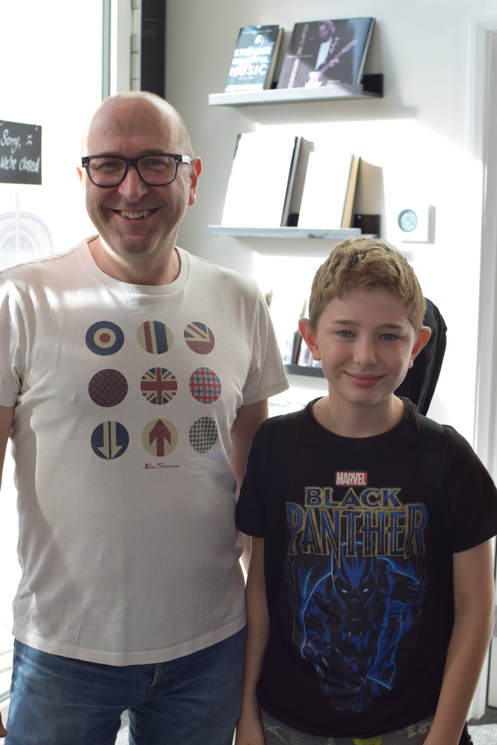 """The whole team who run this guitar tuition studio are incredibly enthusiastic and talented.  The kids all look forward to their lessons and delight in performing in front of the parents and other children.   If your child is wanting to learn to play the guitar I would strongly advise checking this place out. ""   Ian with Joshua (age 11)"