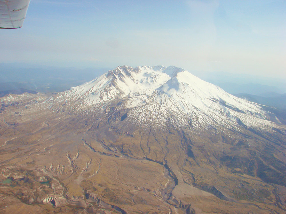 Mt St Helens NE Face and nearby blast zone