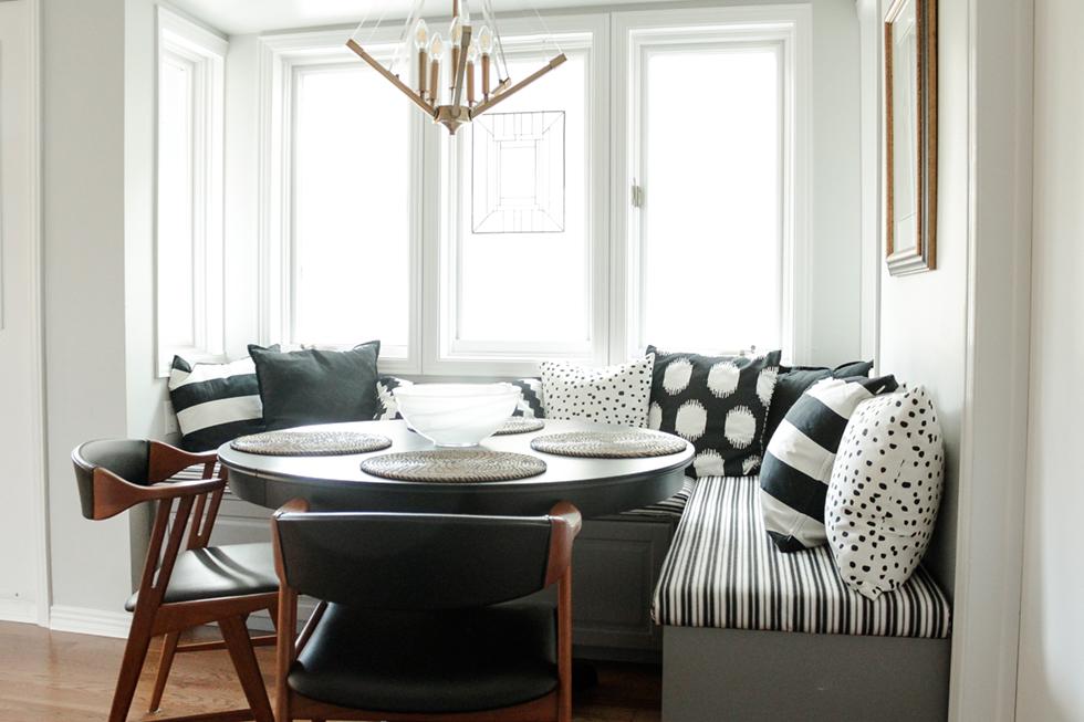Ottawa, ON Custom Kitchen Nook Design by Ashley Izsak using Ikea cabinets
