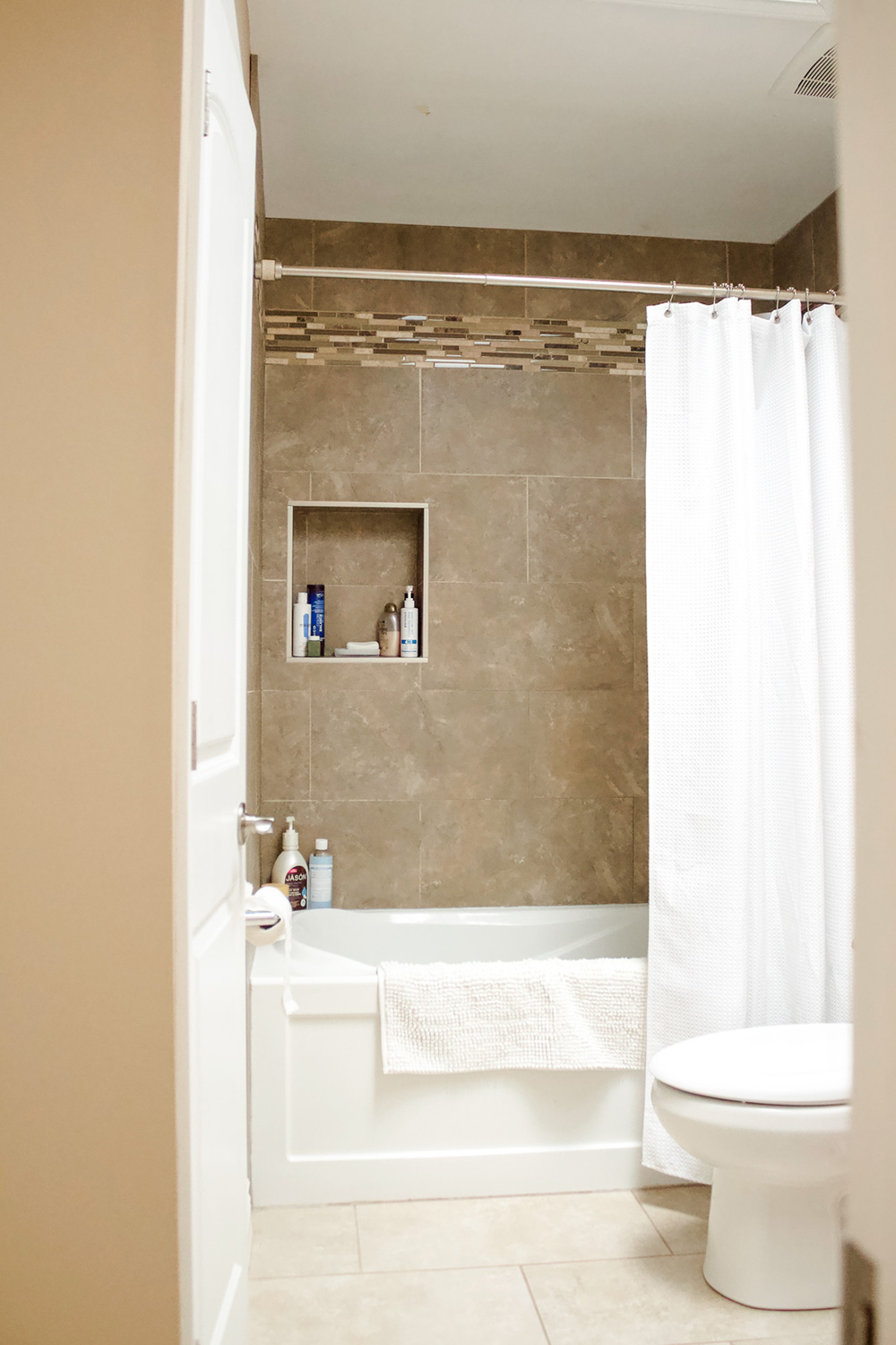 Family Bathroom Before and After by Ashley Izsak