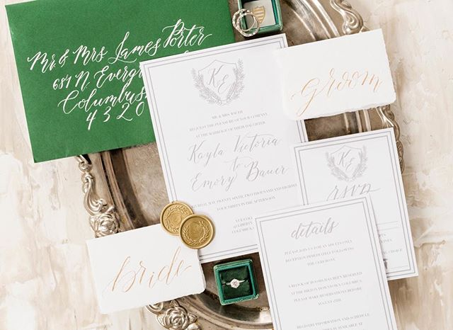 Wax seals are a great way to customize your wedding stationery! Your guests will DEFINITELY notice your invitation in the mail when it comes with hand-written calligraphy and custom wax seals. #2019brides, it's not too early to start planning! get in touch and see the new invitation suites and save the dates that The Columbus Calligrapher is going to be offering! Photo by @sweetwilliamsphotography . . . . .  #fineartphg #artlovers #arte #fineart_photobw #artsy #visualart #contemporaryart #fineartphoto #fineart #fineartphotography #myart #artcollector #abstractart #instaartwork #artgallery #columbuswedding  #modernart #contemporarypainting  #columbusohio #weddingstationery  #ohioexplored #columbusgram #letsroamohio #nikonphotography #nikontop #fineartinvitations #fineartbride #fineartwedding
