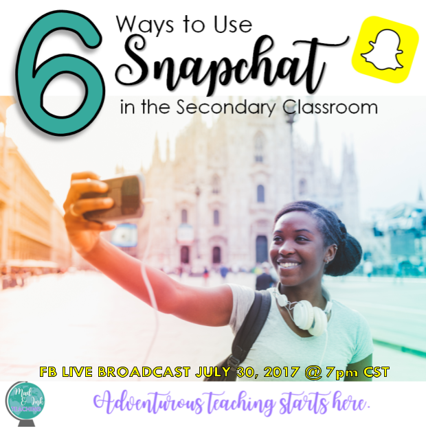 Here are 6 innovative strategies for #edtechteachers to try in their classroom right away.  Learn some quick Snapchat basics and then bring that into your classroom!  Students will be engaged and excited to combine their favorite social media tool with reading, writing, math, science, and social studies!