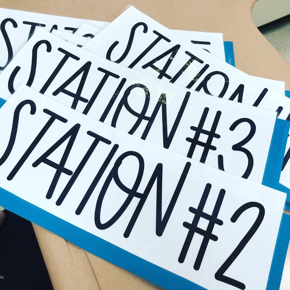 Station Labels for my Classroom {Mud and Ink Teaching}