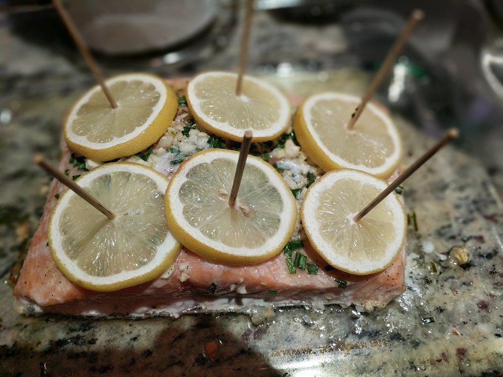 Prep the Salmon -
