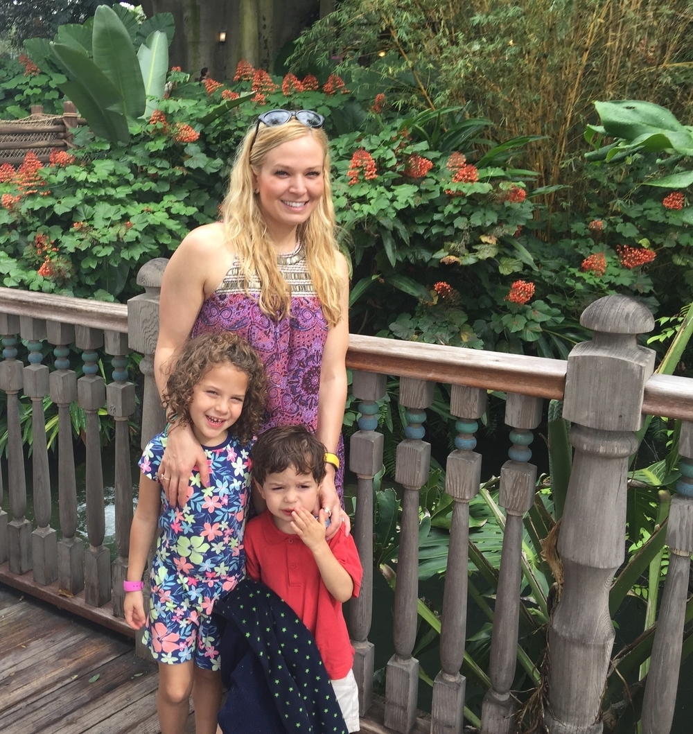 Happy at the Disney Swiss Family Robinson Treehouse