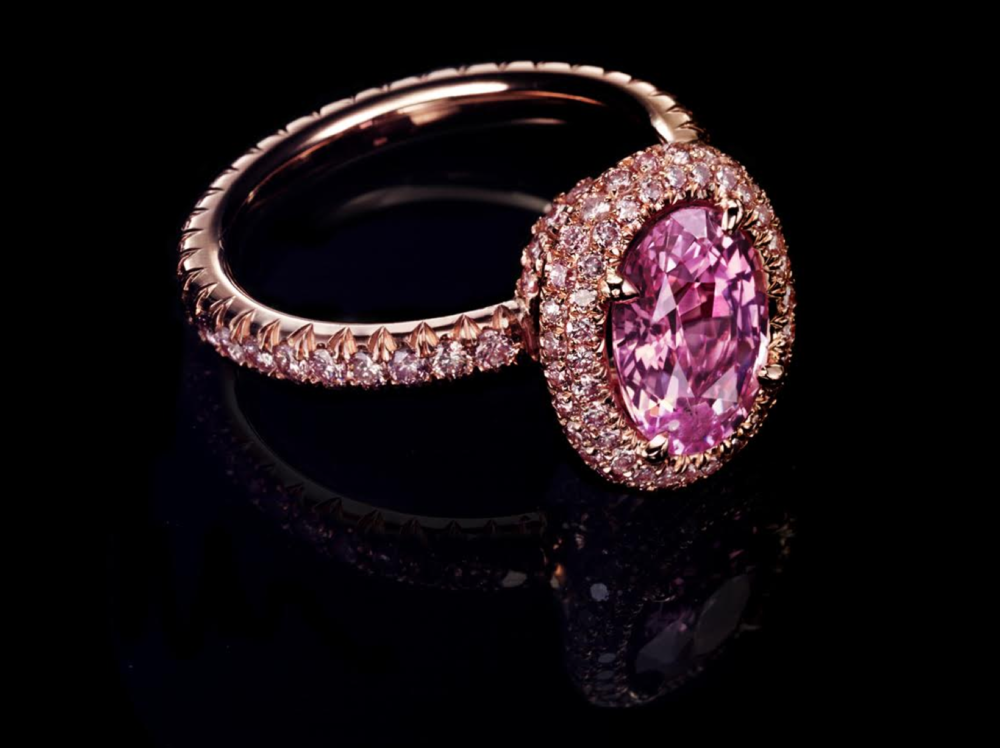 """The final product of """"The Pink Ring Project""""."""