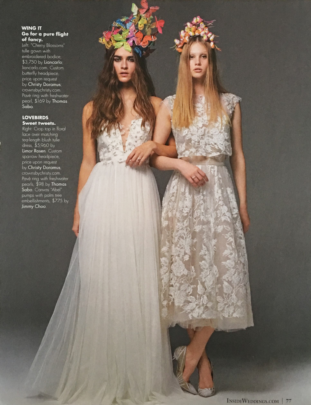 Inside Weddings magazine, Spring 2016