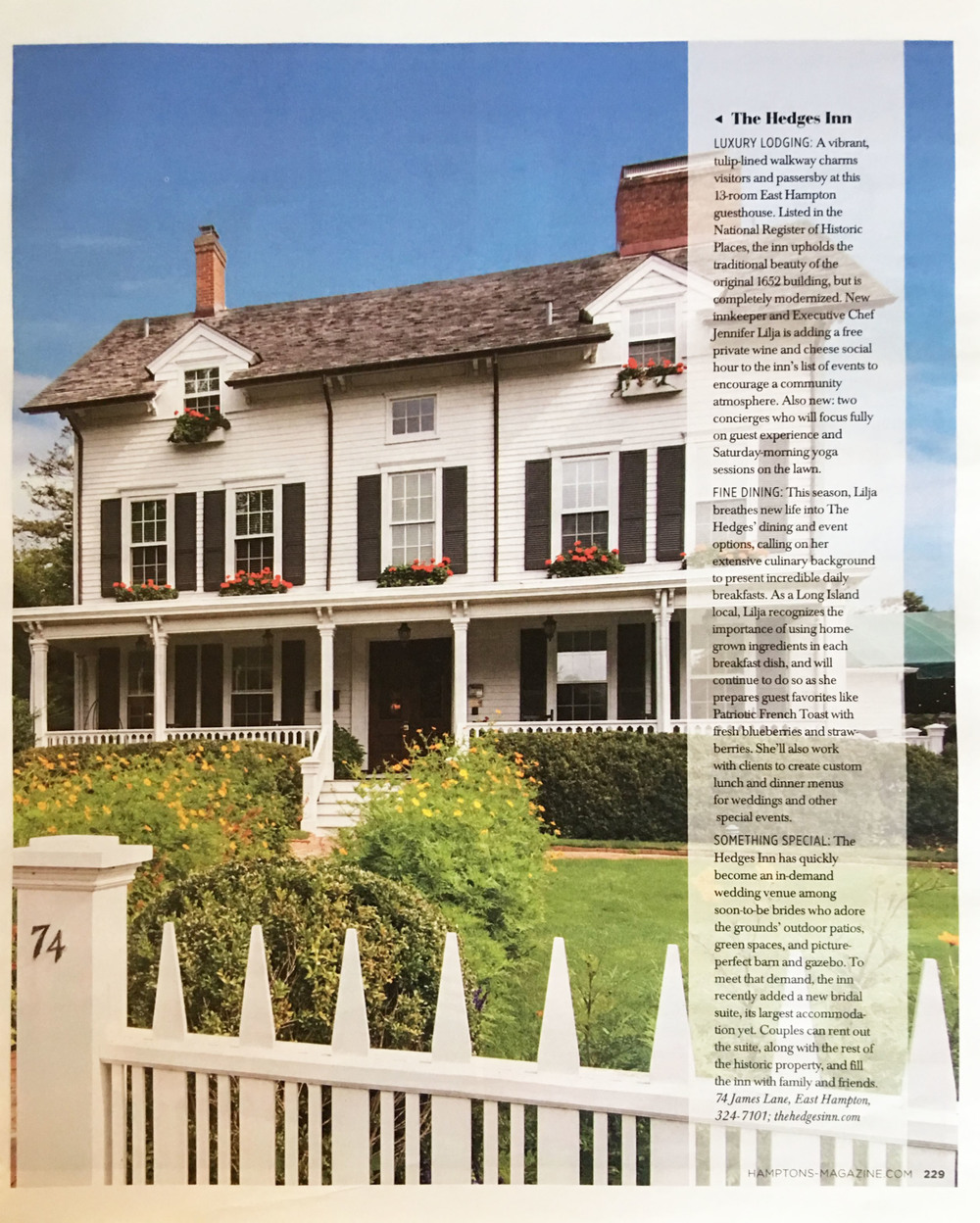 HAMPTONS, Memorial Day Issue 2016