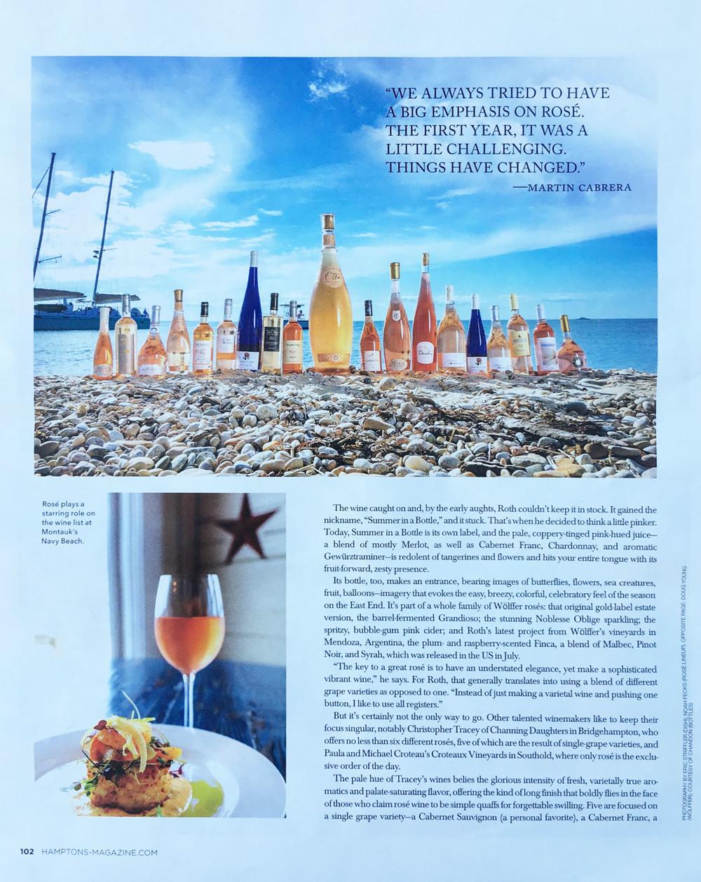 Hamptons Magazine, August 2016